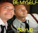 "CRAYMO ""Be Myself"" CD single cover and video link."
